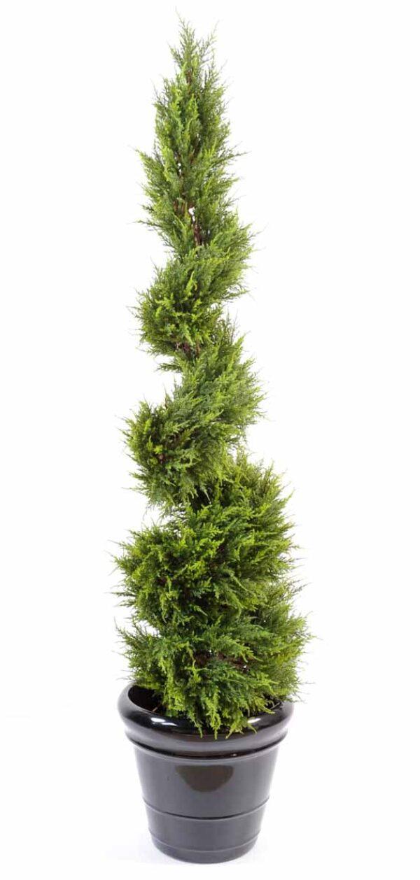 cypres artificiel juniperus spirale fine 1 1