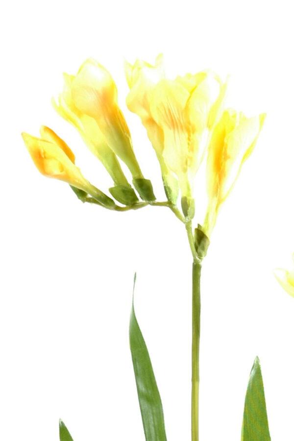 fleur artificielle fresia jaune 1 1