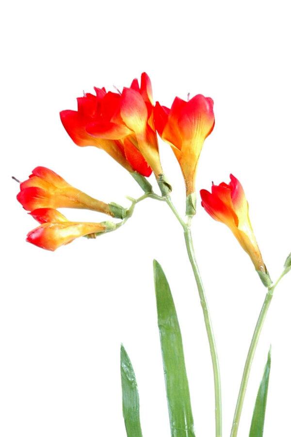 fleur artificielle fresia orange 1 1