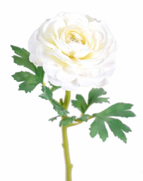 fleur artificielle renoncule blanc 1 1