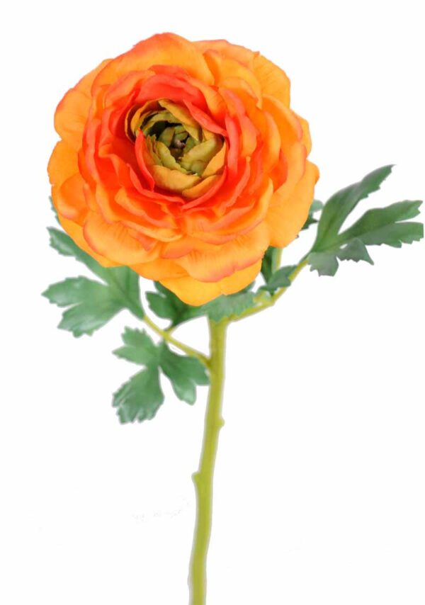 fleur artificielle renoncule orange 1 2