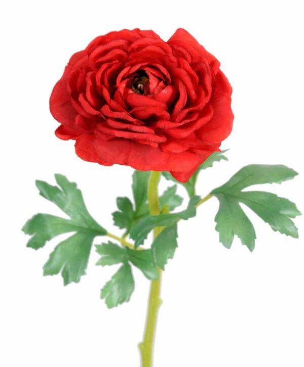 fleur artificielle renoncule rouge 1 1
