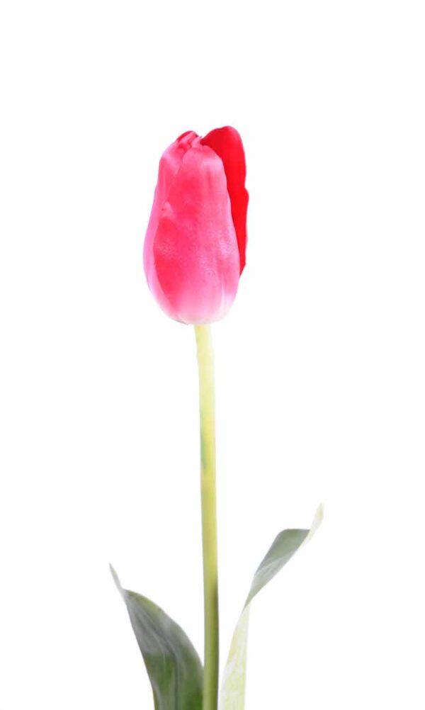 fleur artificielle tulipe rose 2 2