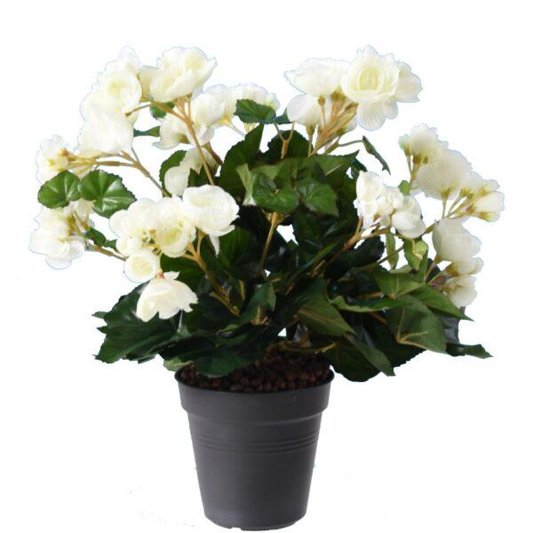 plante artificielle begonia blanc 1 1