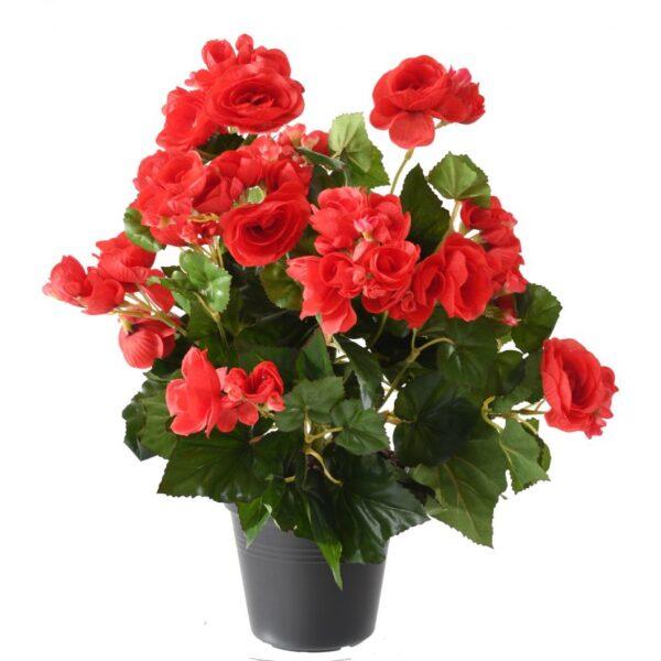 plante artificielle begonia rouge 1 1