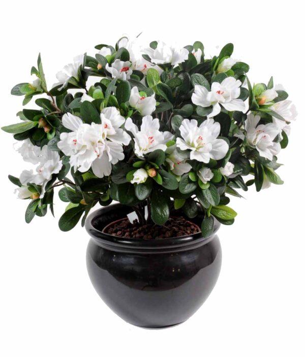 plante artificielle fleurie azalee blanc 1 1