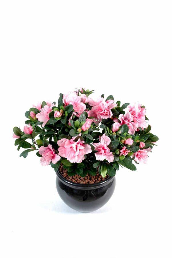 plante artificielle fleurie azalee rose 1 1