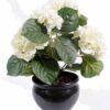 plante artificielle fleurie hortensia creme 1 1