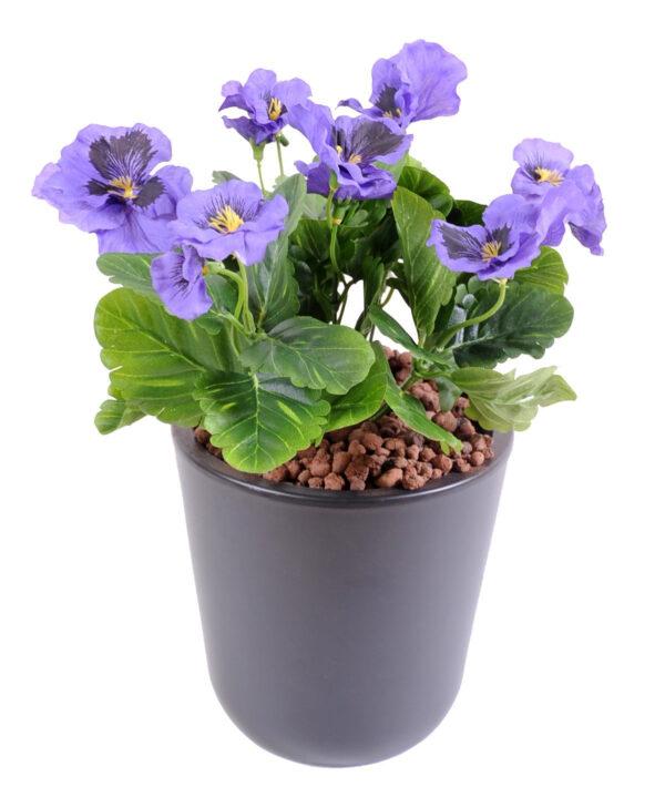 plante artificielle fleurie pensee violette 3 1