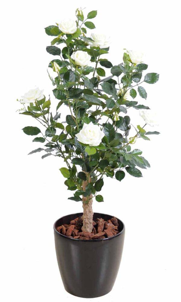 plante artificielle rosier royal arbuste blanc 1 1
