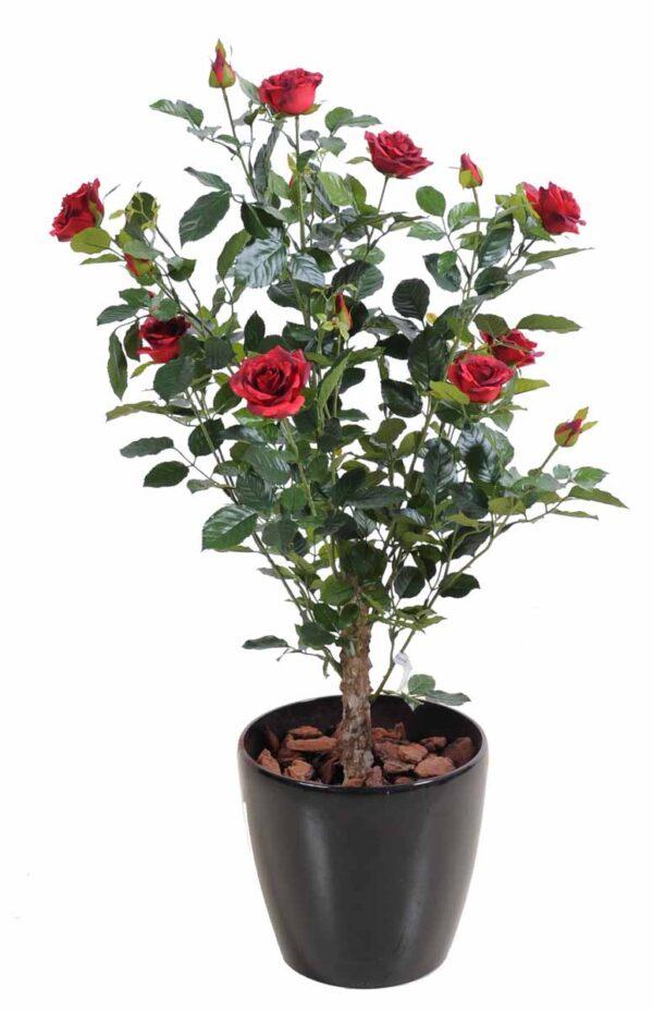 plante artificielle rosier royal arbuste rouge 1 1