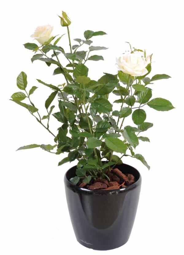 plante artificielle rosier royal rose creme 31 1