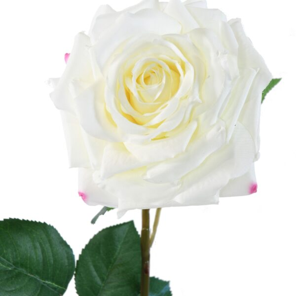 rose artificielle blanche 2 1 1