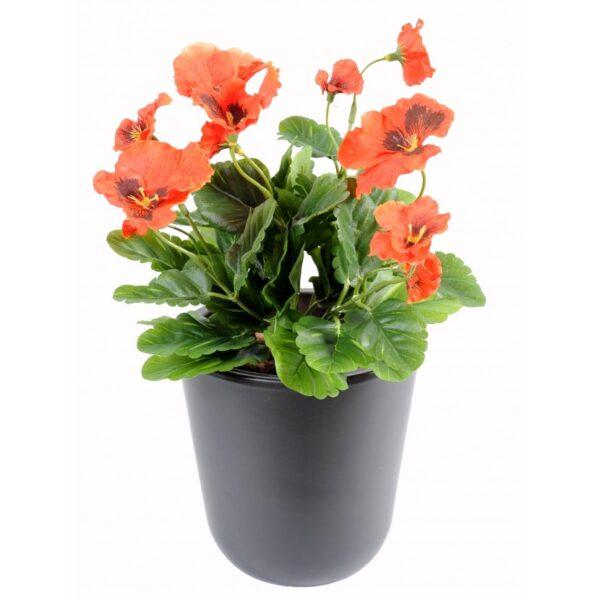 plante artificielle pensee orange 1 1